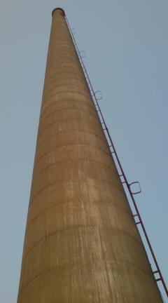 夕張化成工場煙突