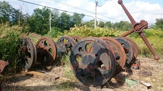 幌内炭鉱 動輪